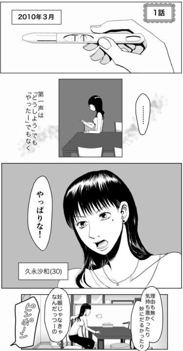 【エッセイ漫画】久永家1話 妊娠判明